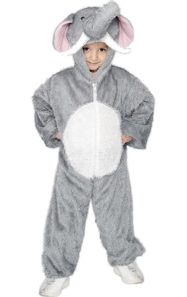 Kids Age 4 - 9 years Grey Elephant Animal Fancy Dress Costume
