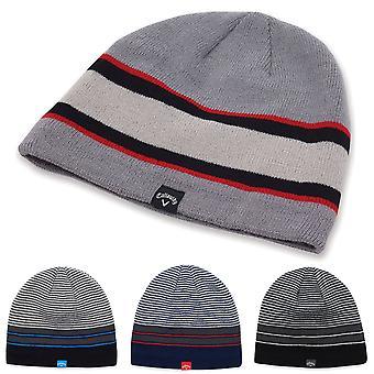 Callaway Golf Mens Winter Chill Fleece Lined Knitted Beanie Hat