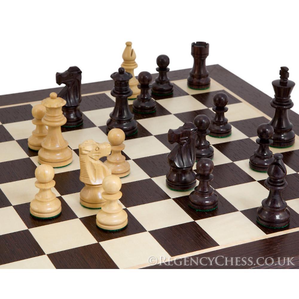 French Knight Rosewood Wenge Chess Set