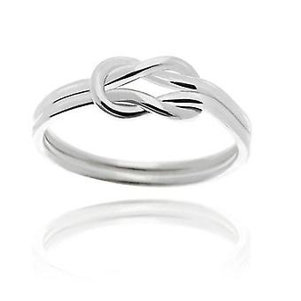 18k white-gold plated love knot ring