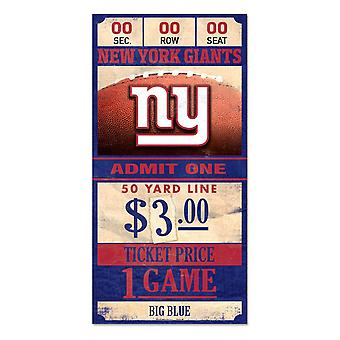 Wincraft NFL Holzschild TICKET New York Giants 30x15cm
