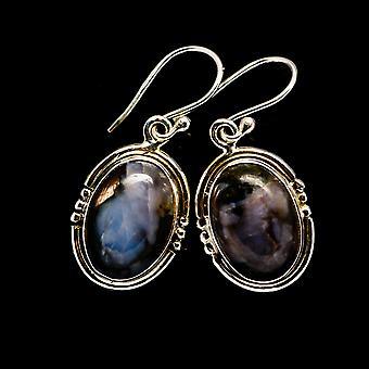 "Gabbro Kolczyki 1 1/4"" (925 Sterling Silver) - Ręcznie robione Boho Vintage Biżuteria EARR394134"