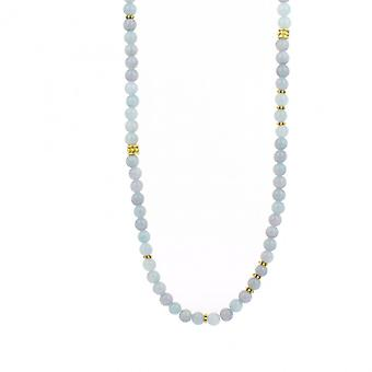 Collier et pendentif Les Interchangeables A59278   - Sautoir Bobo Chic Bleu Ciel Femme
