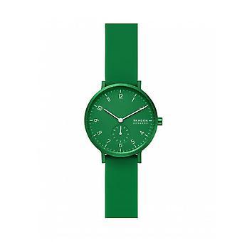 Watch Skagen SKW2804 - AAREN KULOR Bo tier Aluminium Green Bracelet Silicone Green Women