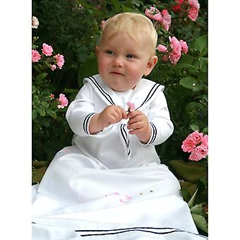 Christening dress Grace Of Sweden, Sailor's Dress White With Long Sleeves