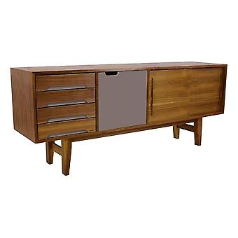 Fusion Living Modern Retro Walnut And Grey Sideboard