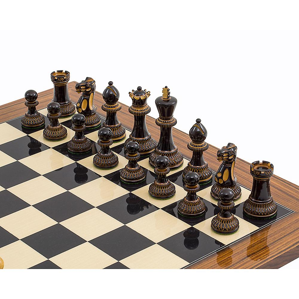The Burnt Parker Palisander Chess Set