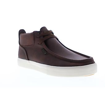 Lugz Strider LX Mens Brown Synthetic & Leather Casual Slip On Loafers Shoes