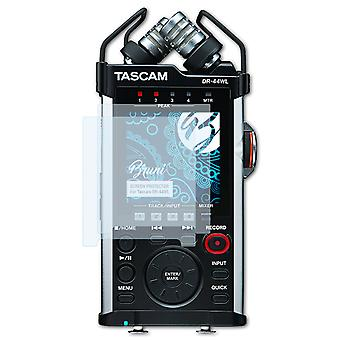 Bruni 2x näytönsuoja yhteensopiva Tascam DR-44WL suojaava kalvo