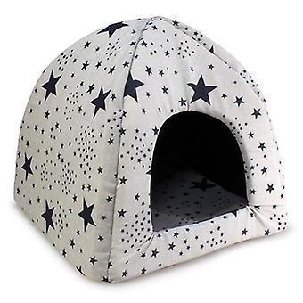 Arquivet Iglú Estrellas Negras para Perros y Gatos (koirat, vuode vaatteet, Igloos)