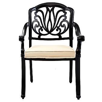 Charles Bentley Premium Möbel aus Aluminium 7 Stück Outdoor Dining Set