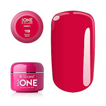 Base one-Neon-Dark red 5g UV Gel