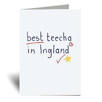Best Teecha In Ingland A6 Greeting Card
