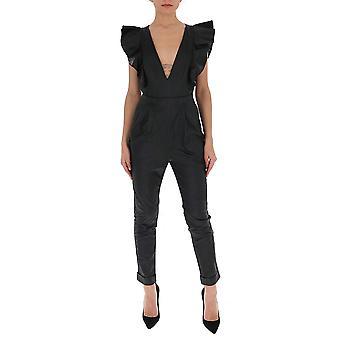 Filosofi Av Lorenzo Serafini 04040741v0555 Kvinnor's Black Viskos jumpsuit