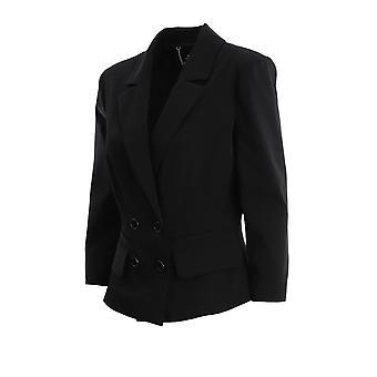 Elisabetta Franchi Gi92801e2110 Women's Black Nylon Blazer