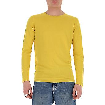 Laneus S22cc9giallo Men's Yellow Cotton Sweater