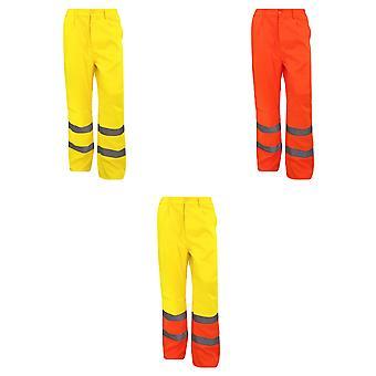 Yoko Workwear Mens Hi-Vis Polycotton Work Trouser (Regular)
