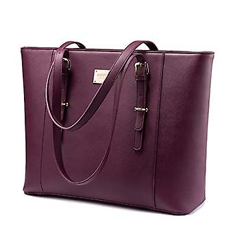 Laptop Bag for Women, Large Computer Bags for Women,, Deep-plum, Size 15.6