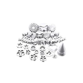30 Pieces Cake/cookie Decorating Sugarcraft Cutters & Plungers - Flower Leaf Shapes