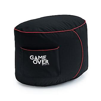 Peli Yli Video Gaming Bean Bag Jalka Jakkara | Sisäolohuoneen jalkatuki | Sivutaskut ohjaimille | Ergonominen muotoilu Dedicated Gamer (Fire Rune)