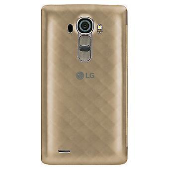 LG Kreis Quick Snap auf Folio Case für LG G4 (Gold)