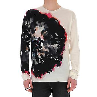 Alexander Mcqueen 610654q1alx9094 Men's White Cotton Sweater