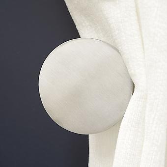 Brass Curtain Tie Backs - Silver