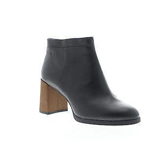Camper Kara  Womens Black Leather Heels Zipper Pumps Shoes