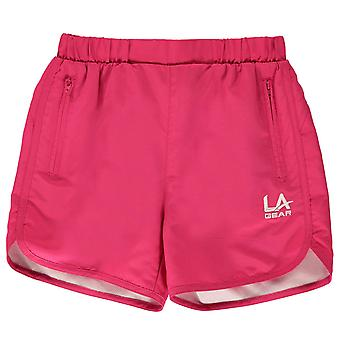 LA Gear Kids Girls Woven Shorts Junior Pants Trousers Bottoms Lightweight