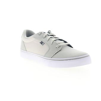 DC Anvil TX  Mens Gray Canvas Lace Up Athletic Skate Shoes