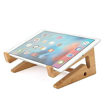 Macbookのラップトップタブレットの携帯電話のキーボードのための多機能木製の取り外し可能なデスクトップスタンドホルダー