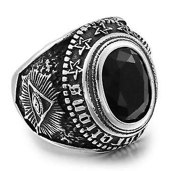All seeing eye stone ring