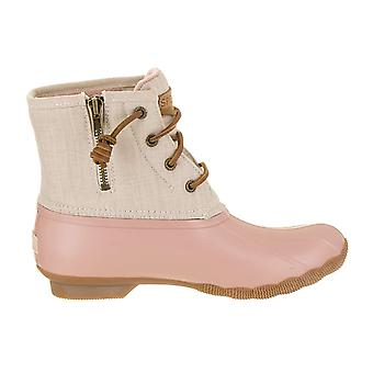 Sperry Womens Saltwater Canvas Almond Toe Ankle Cold Weather Boots