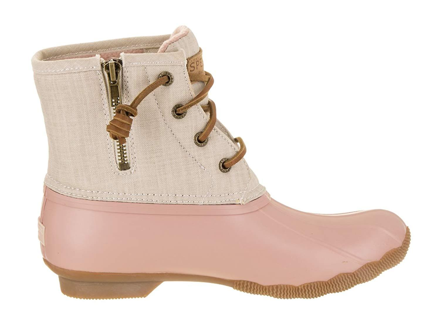 Sperry Womens Saltwater Canvas Almond Toe Ankle Cold Weather Boots Q4WRi