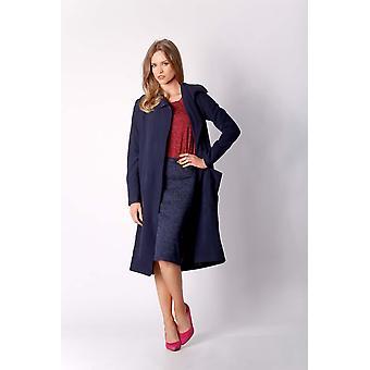 Navy blue nommo jackets & coats