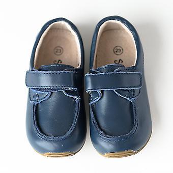 SKEANIE toddler e bambini in pelle deck scarpe in blu navy