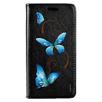 Caso para Huawei P20 Lite patrón de mariposa negro en arabesco