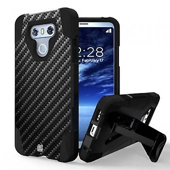 LG G6 BEYOND CELL SHELL CASE HYBER 2 SERIES CASE - CARBON FIBER