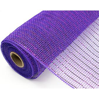 Metallic Purple 25cm x 9.1m Deco Mesh Roll for Wreath Making & Floristry Crafts