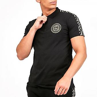 Glorious Gangsta Garcia Black Flock Logo Polo T-shirt