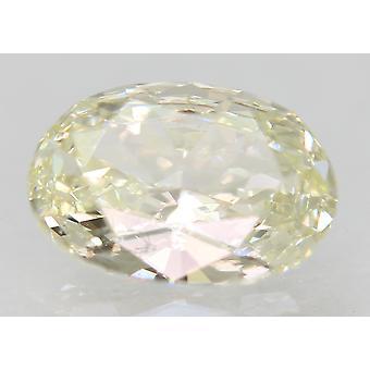 معتمد 0.59 قيراط أنا اللون VVS1 البيضاوي الطبيعية فضفاضة الماس 6.91x4.84mm 2VG