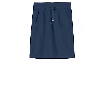 Sandwich Clothing Navy Linen Skirt