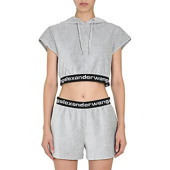 Alexander Wang.t 4cc1201106030 Women's Grey Cotton Sweatshirt