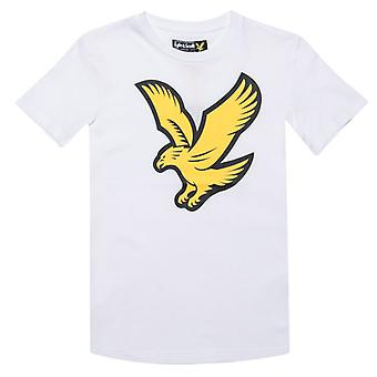 Boy's Lyle And Scott Junior Eagle Logo T-Shirt in White