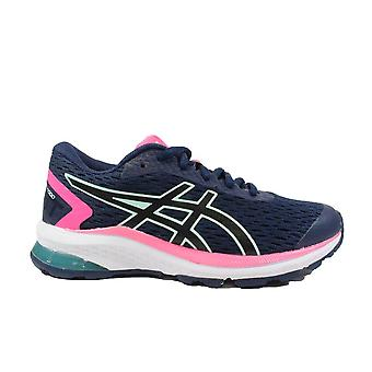 Asics GT-1000 9 GS Pea/Black Mesh Girls Lace Up Running Trainers