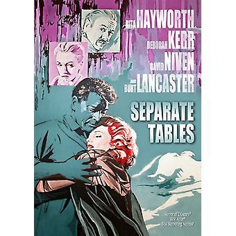 Séparer les Tables (1958) [DVD] USA import