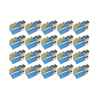 RudyTwos החלפת 20x עבור היחידה האח LC3213C Ink תואם ציאן עם DCP-J772DW, DCP-J774DW, MFC-J890DW, MFC-J895DW