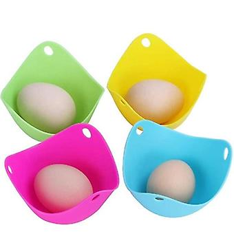 4Pcs / lot Silikonowe jajko kłusownici Strąki Pan Mould Egg Mold Bowl Rings Cooker Boiler