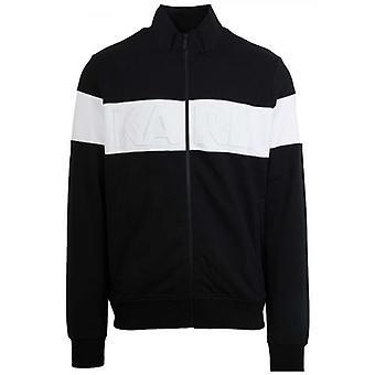 Lagerfeld Black & White Zip Sweatshirt