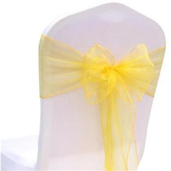 Country Style Event Party Wedding Decoration Chair Tulle Band Tie